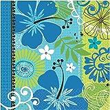 16 serviettes de table en papier Brise Fraîche Blue Tropical - 33cm x 33cm