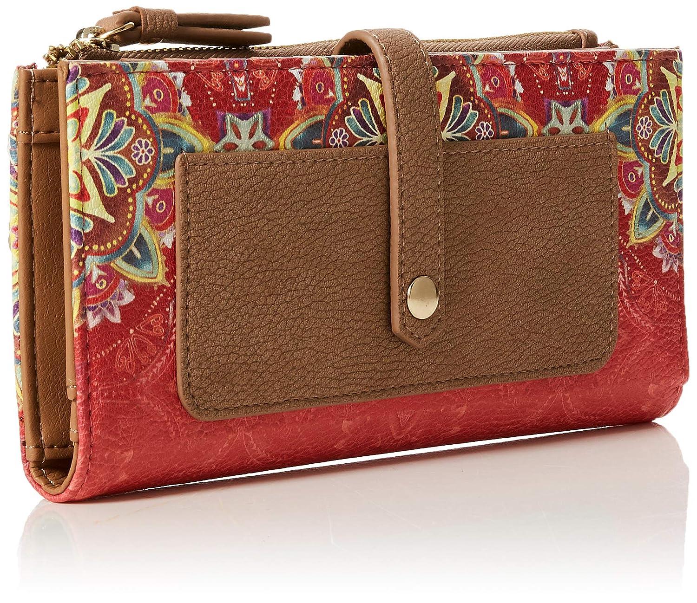 Desigual - Mone_polaris_pia, Carteras Mujer, Rojo (Teja), 1.5x9.5x19.5 cm (B x H T): Amazon.es: Zapatos y complementos