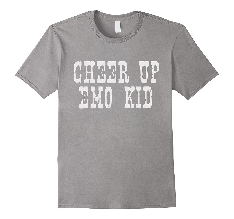 Cheer Up Emo Kid Graphic Tee Shirt-Art