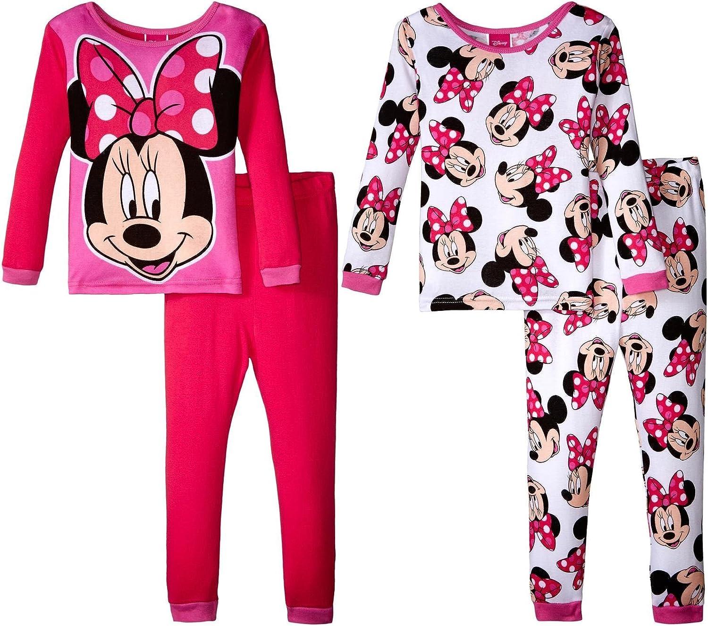 Disney Girls Minnie Mouse Smile Pretty 4 Piece Cotton Set