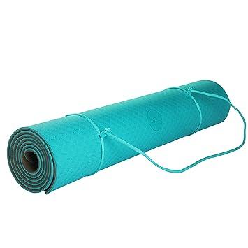 Umi. Essentials Yoga Mat Colchoneta Yoga Antideslizante Eco TPE Extra Suave con Double Capas (Verde + Marrón, 1830×800×6mm)