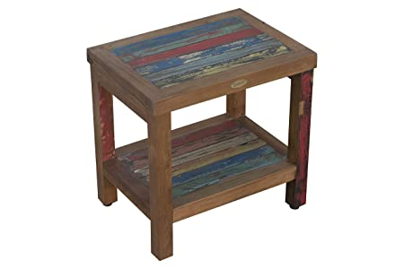 EcoDecors Reclaimed Salvaged Rustic Recycled 18 Boat Wood Bench-Fully Assembled- Indoor Outdoor Bench