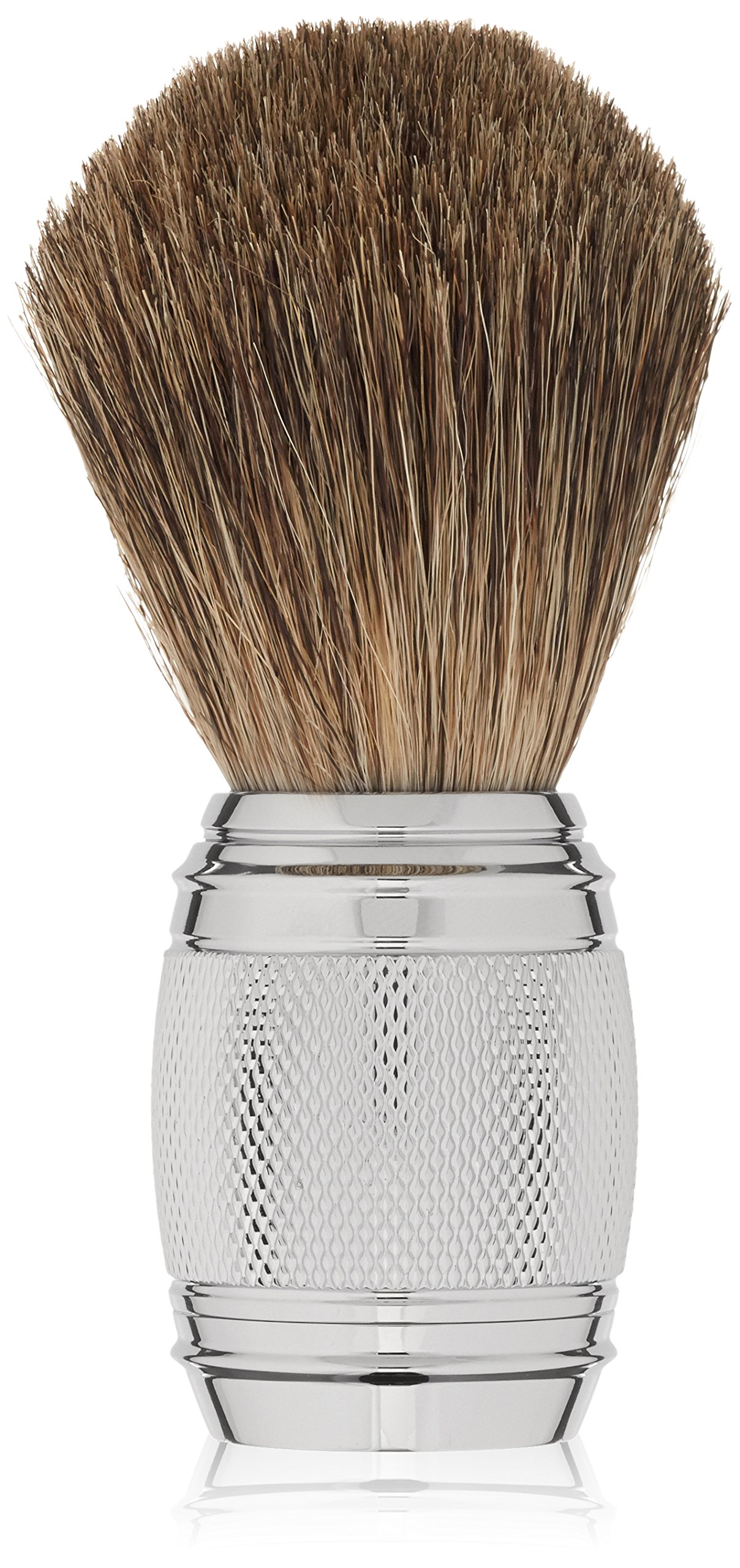 The Art of Shaving Fusion Chrome Collection, Pure Badger Brush, 0.76 lb.