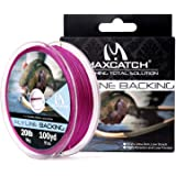 M MAXIMUMCATCH Maxcatch Braided Fly Line Backing for Fly Fishing 20/30lb(White, Yellow, Orange, Black&White, Black&Yellow, Bl