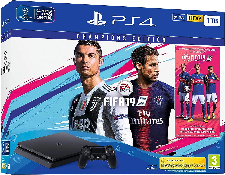 PlayStation 4 (PS4)- Consola 1 TB + Fifa 19 - Edición Deluxe: Sony: Amazon.es: Videojuegos