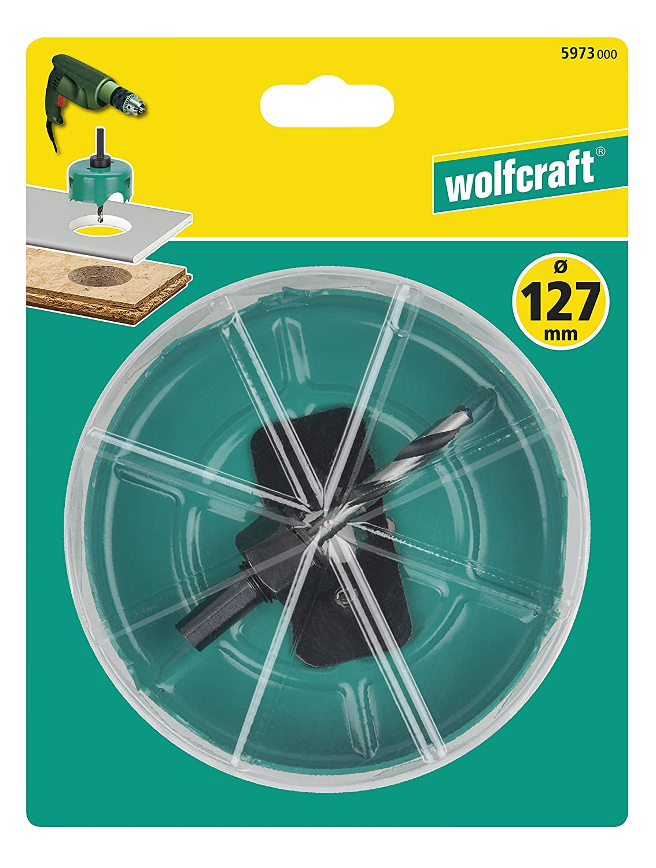 turquesa Wolfcraft 5966000 Sierra de corona 30 x 60 mm 0 V