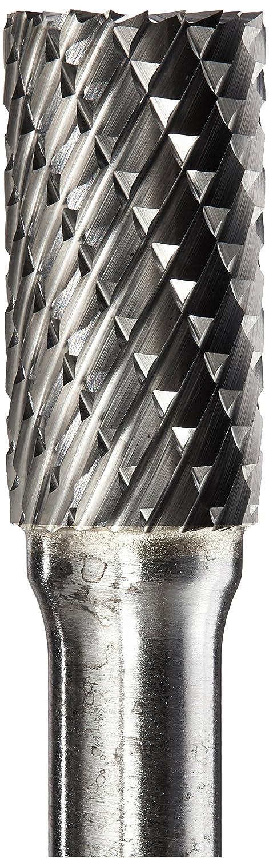3//8 Diameter Kodiak Cutting Tools KCT123165 USA Made SB-3 Cylindrical End Cutting Carbide Bur Double Cut 1//4 Shank