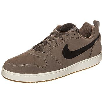 best service b045d 8d47c Nike Court Borough Low Premium Baskets Homme, Marron Noir