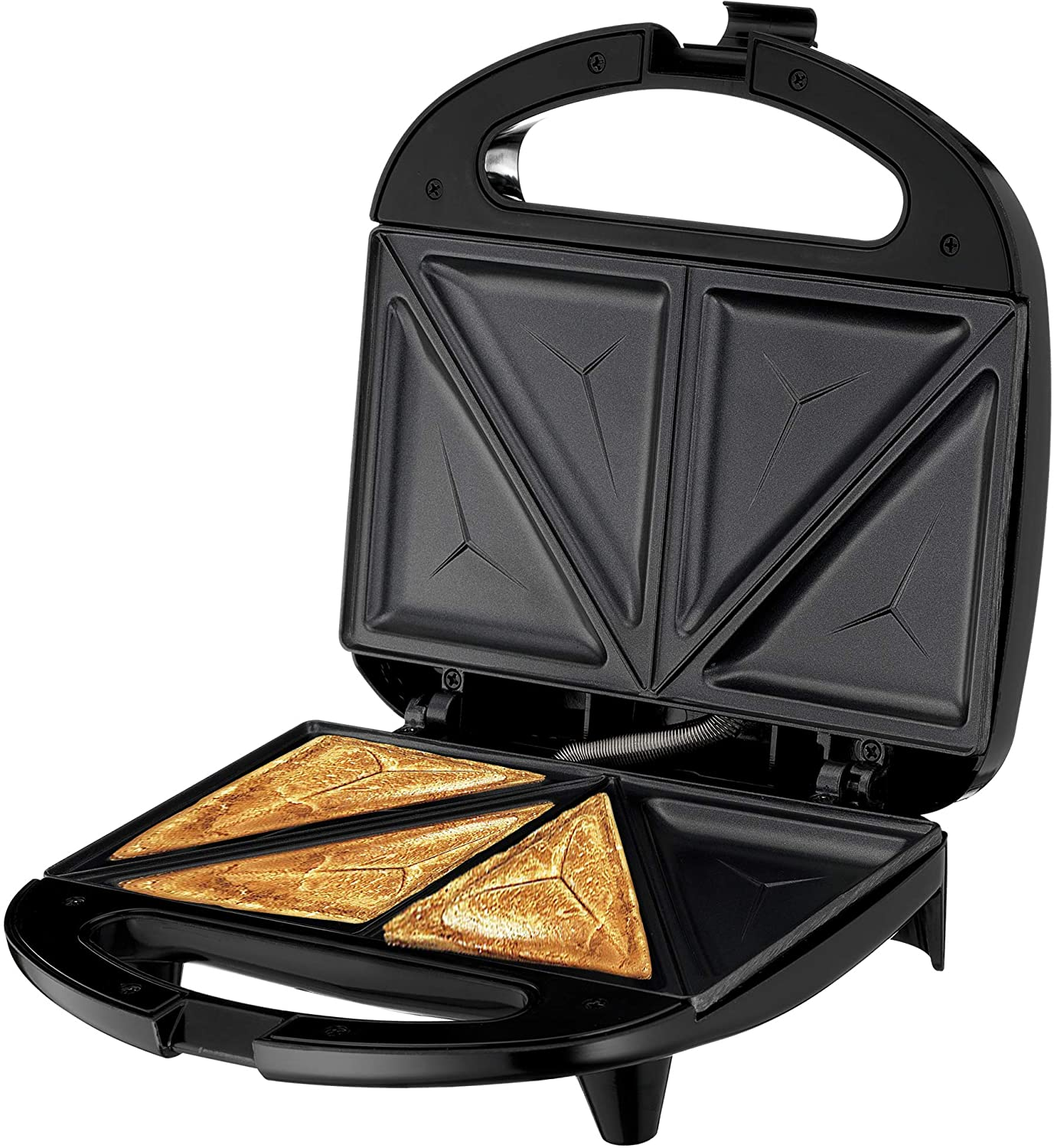 Lumme Sandwich Maker, Sandwich Toaster, Panini Press, Quesadilla Maker, Grilled Cheese, French Toast Press, Pizza Pockets Press, Indicator light, Omelet, White (Black)