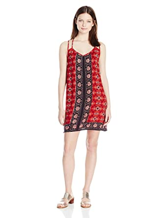 98d77b87ac1 Angie Women s Red Strappy Back Sundress at Amazon Women s Clothing store