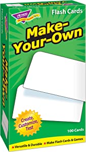 Make-Your-Own Skill Drill Flash Card Game (100 Pack)