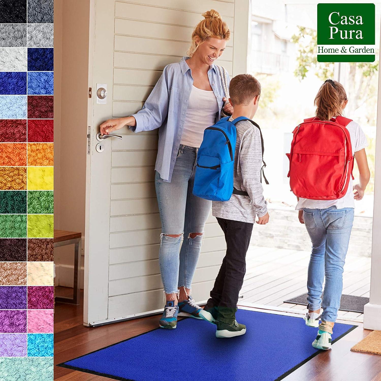 Casa pura Premium Premium Premium Fußmatte für Innenbereich   Schmutzfangmatte als Fußabtreter   mit Brandschutzklasse B1   in vielen Farben und Größen (Fuchsia B27-60x90 cm) B07L99SW78 Fumatten 78f43c