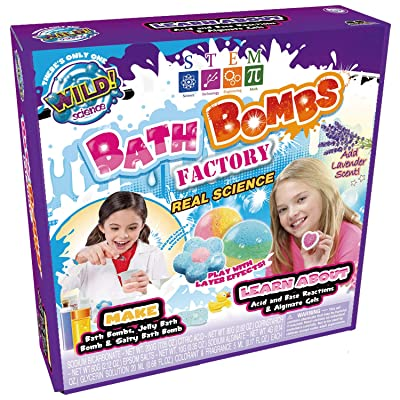 WILD! Science Bath Bombs Factory - in Home Learning Science Kit for Kids - STEM - Bath Bombs Experiments: Industrial & Scientific