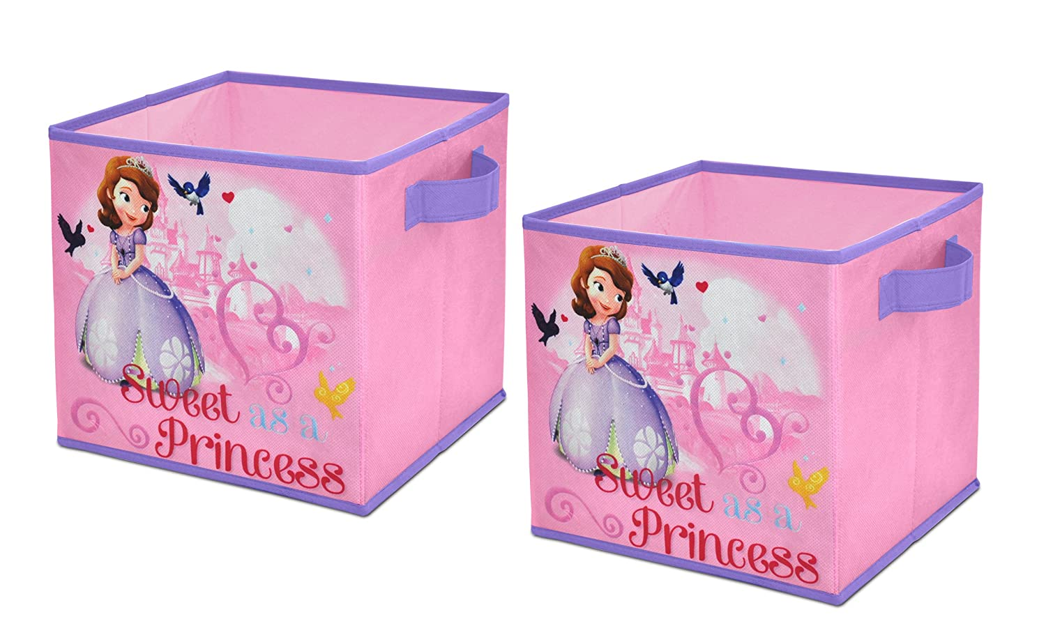 Amazon.com: Disney Sofia The First Storage Cubes, Set Of 2, 10 Inch: Toys U0026  Games