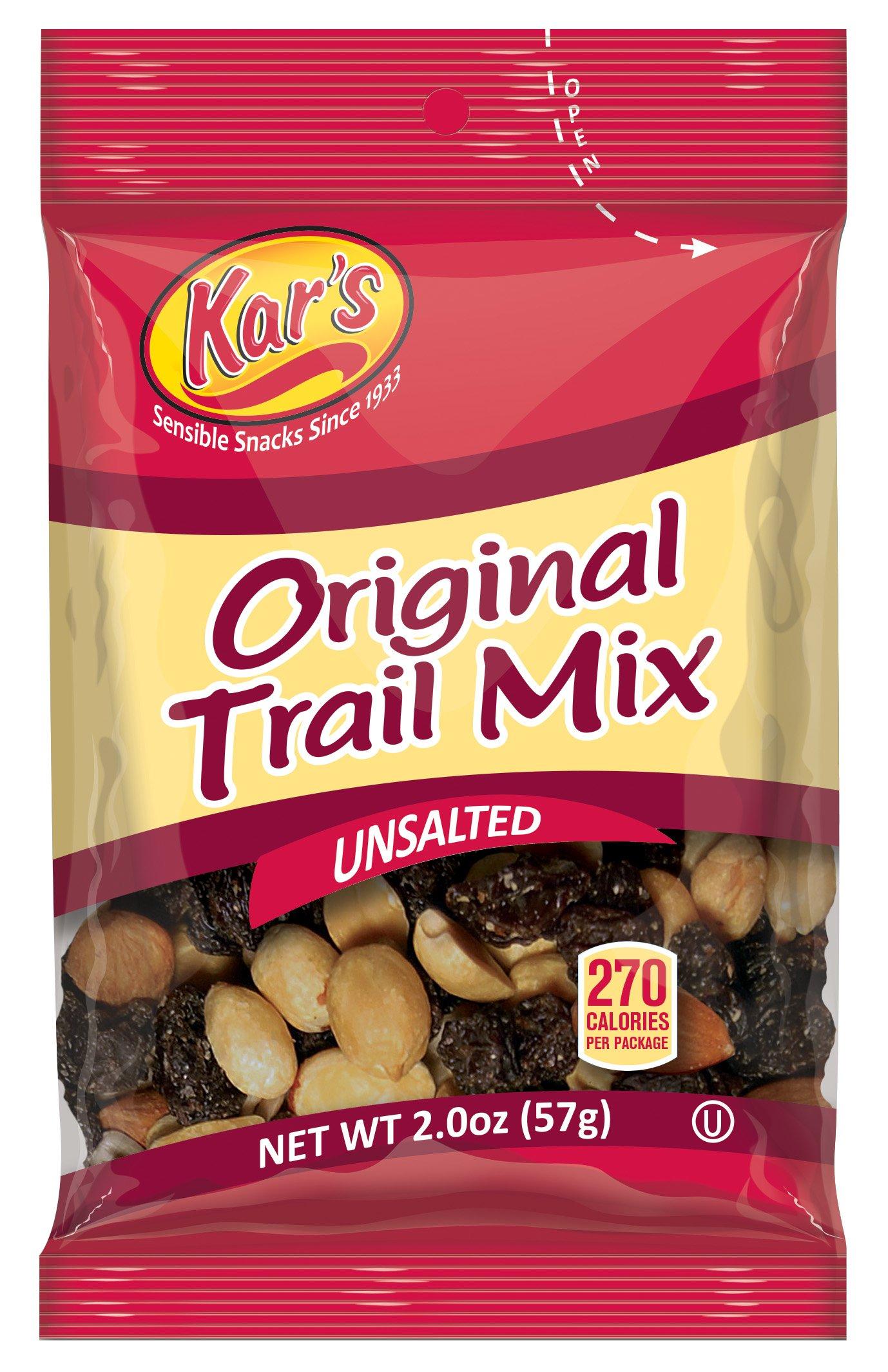 Kar's Nut 'N Yogurt Trail Mix 2 Ounce Single Serving Bags - Unsalted Blend of Greek Yogurt Drops ...