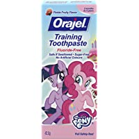 Orajel Fluoride-Free Training Toothpaste for Toddlers, My Little Pony, 42.5-g