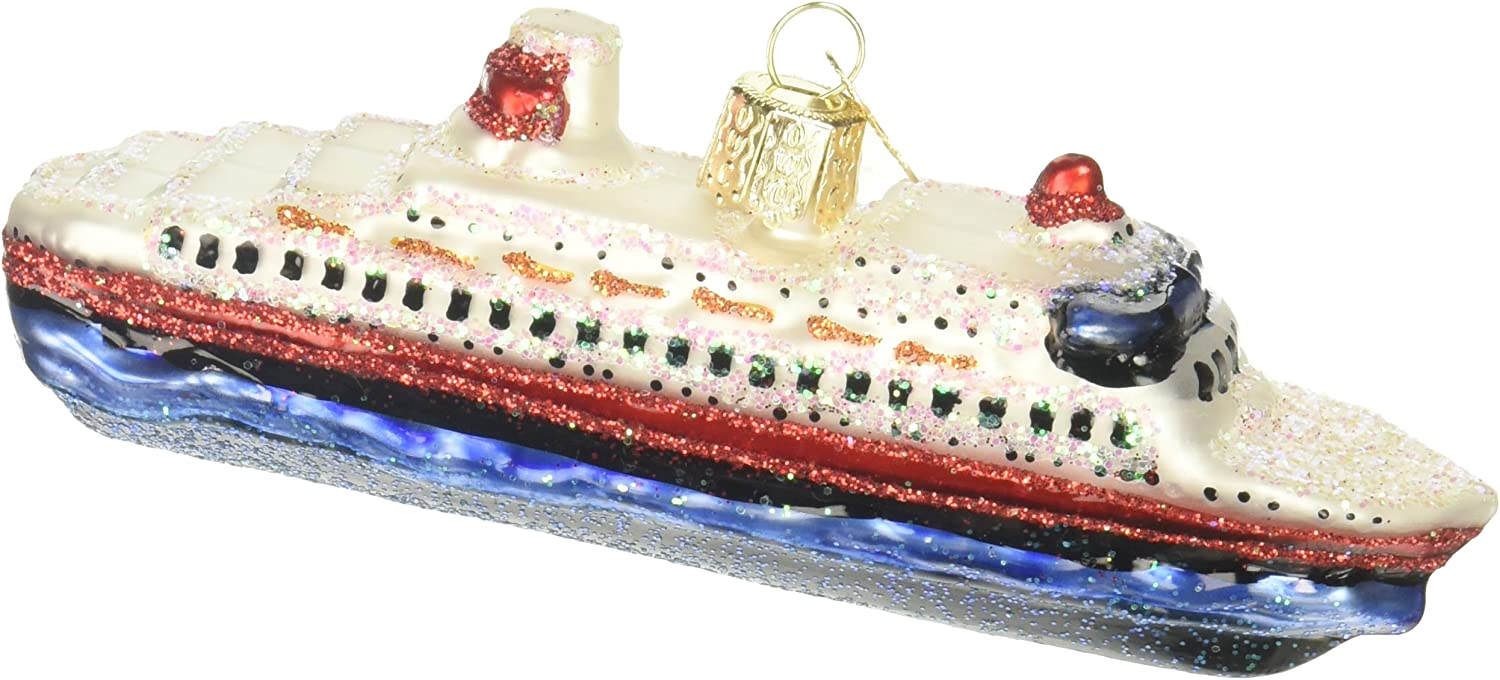 Old World Christmas Ornaments: Cruise Ship Glass Blown Ornaments for Christmas Tree