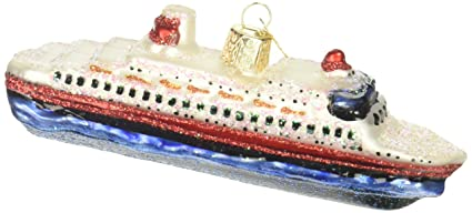 old world christmas cruise ship glass blown ornament - When Do Cruise Ships Decorated For Christmas
