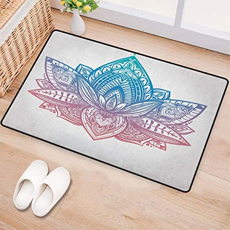 Yoga, alfombra pequeña para puerta, diseño de silueta de una ...