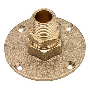 HomeFlex 11-464-005 1/2-Inch Brass Corrugated Stainless Steel Tubingx MIPT Termination Flange