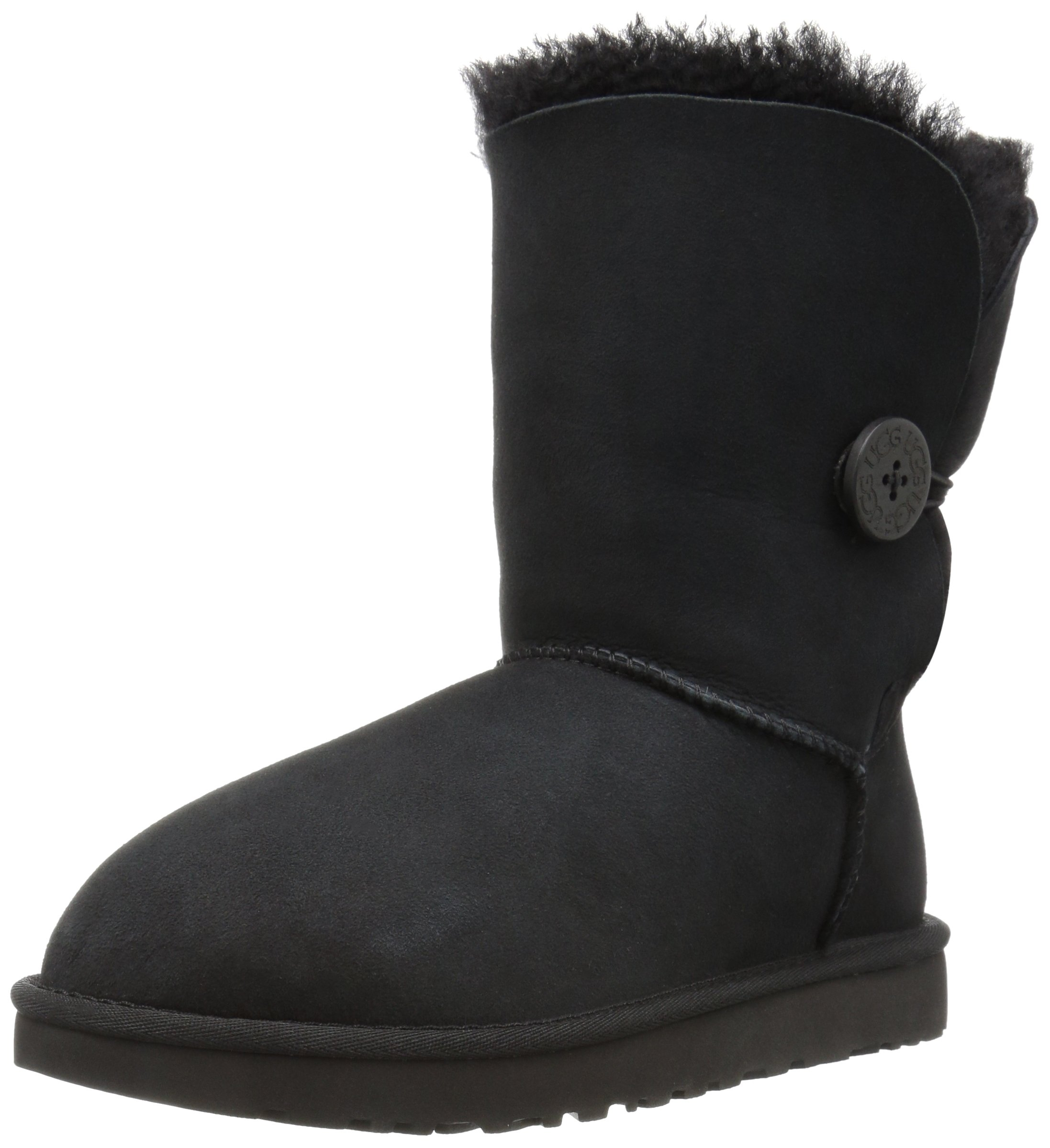 UGG Women's Bailey Button II Winter Boot, Black, 8 B US