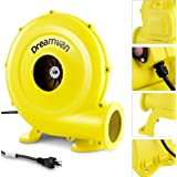 DREAMVAN Air Blower for Inflatables- Inflatable Blower- 750 Watt, 1HP Bounce House Blower for Jumper, Bouncy Castle Yellow El