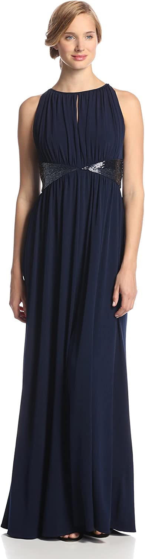 JS Boutique Women's Long Jersey Motif Bead Mail Japan Maker New order Gown Triangle W
