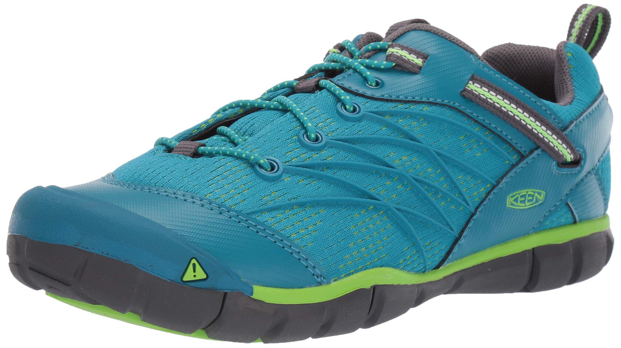 KEEN Unisex Chandler CNX Hiking Shoe, Tahitian Tide/Bright Green, 11 M US Little Kid