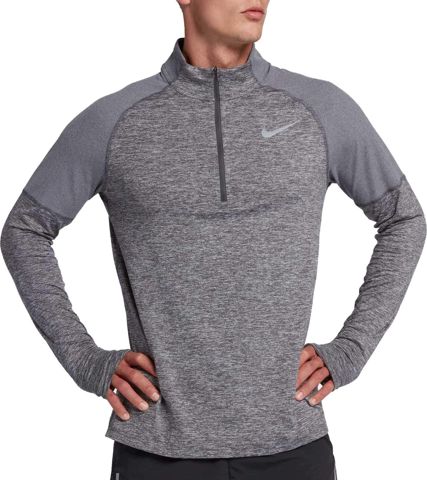 Nike Men's 2.0 Element 1/2 Zip Running Top (Dark Grey/Heather, Medium) by Nike (Image #1)