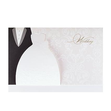Auguri Matrimonio Non Presenti : Wolfteeth biglietti dauguri 10 pz inviti con buste per matrimonio