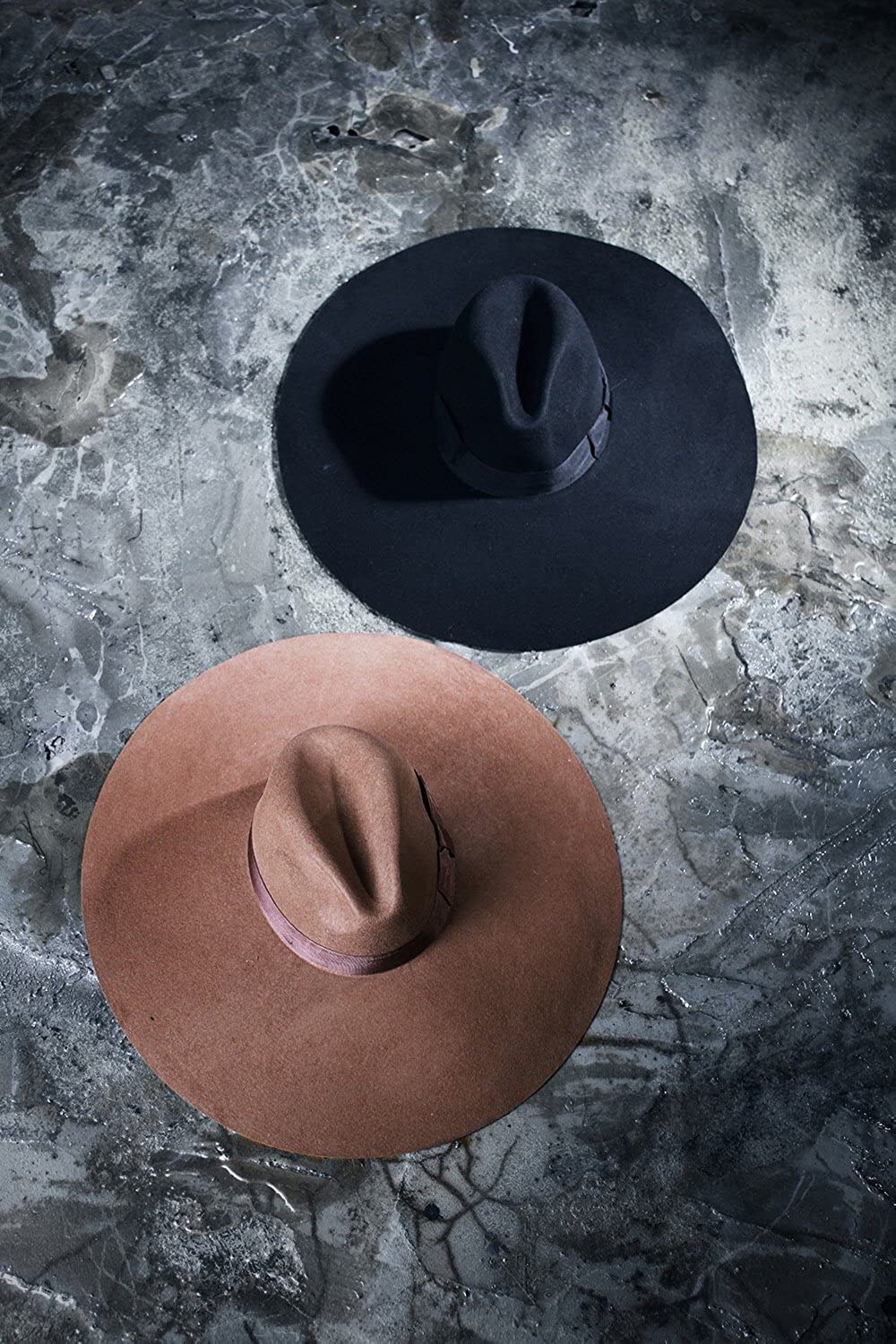 7a4351236e921 ... ByTheR Unisex Modern Chic Classic Style Floppy Wide Brim Fedora Hat  P000BSVL-brown
