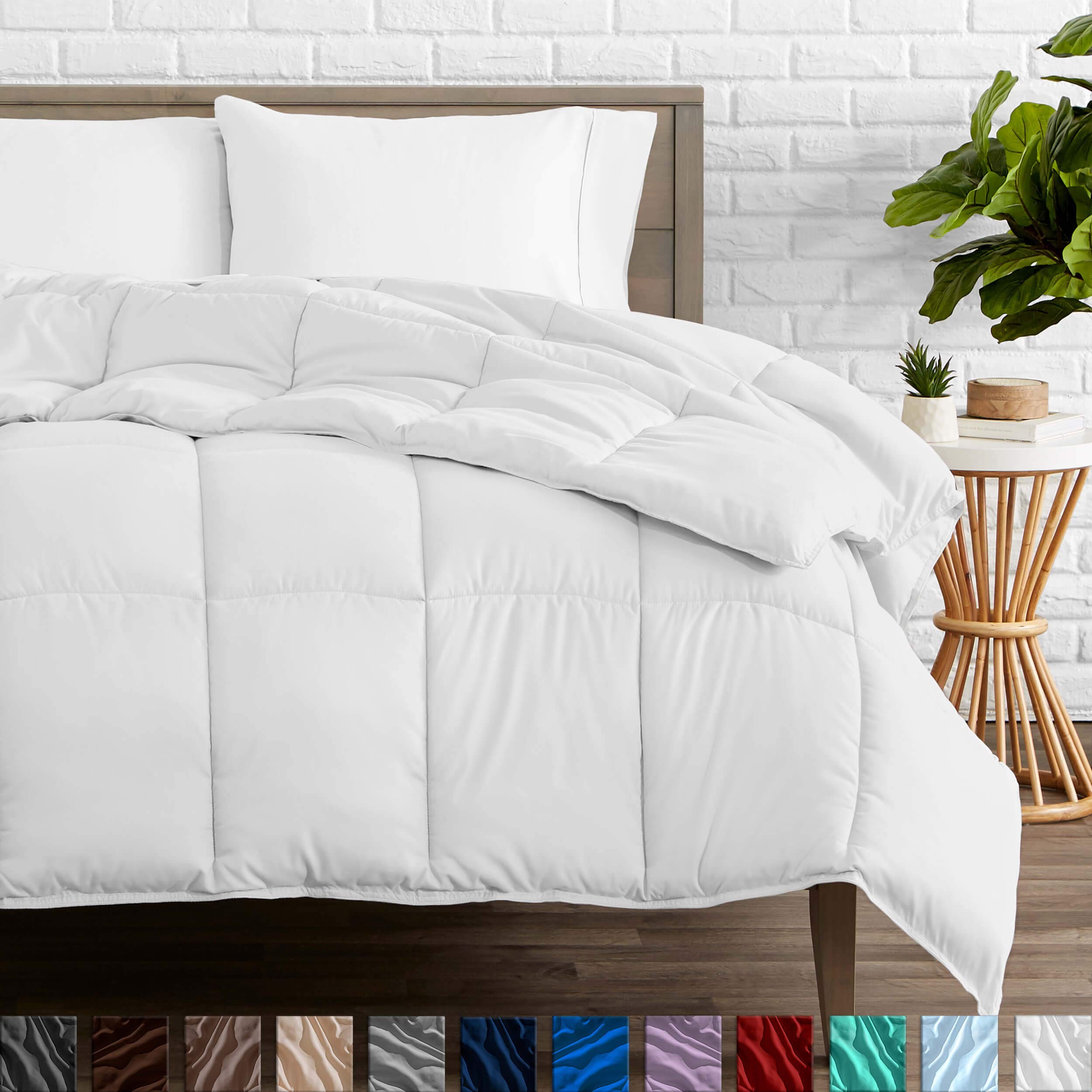 Bare Home Duvet Insert Comforter - King/California King - Goose Down Alternative - Ultra-Soft - Premium 1800 Series - Hypoallergenic - All Season Breathable Warmth (King/Cal King, White) by Bare Home