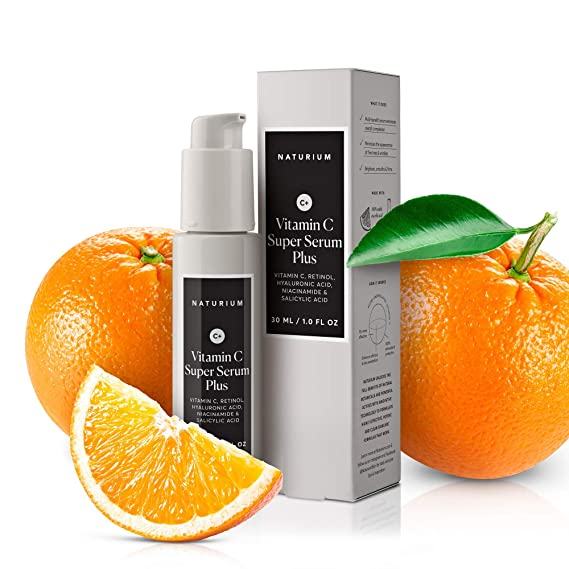 Amazon Com Vitamin C Super Serum Plus 1 Oz Anti Aging Facial Serum With Vitamin C Retinol Hyaluronic Acid Niacinamide Salicylic Acid By Naturium Beauty