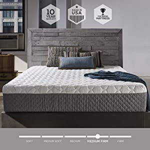 Sleep Innovations Taylor 12-inch Cooling Gel Memory Foam Mattress, Bed in a Box, Made in the USA, 10-Year Warranty - Full Size