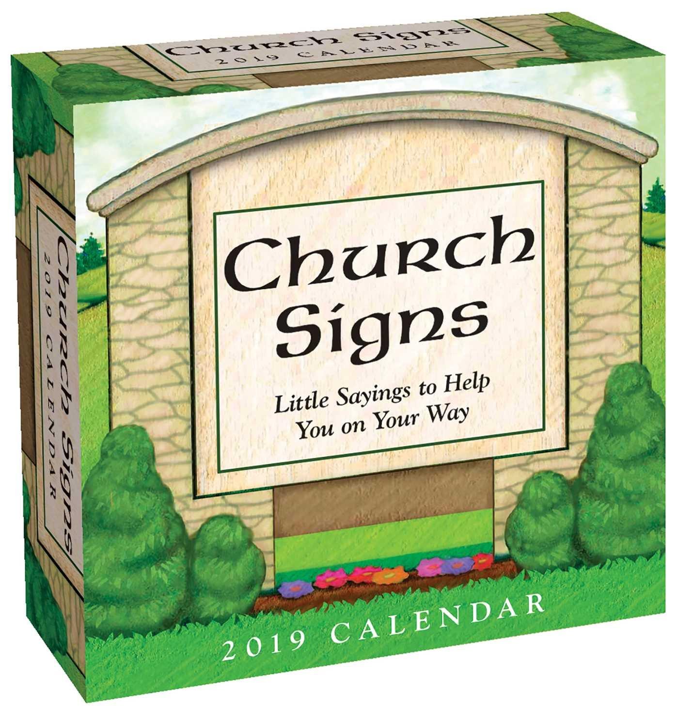 Church Signs 2019 Day-to-Day Calendar pdf epub