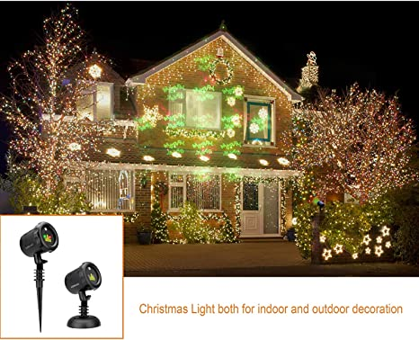 Green Red Projector Light Shows Christmas Tree Snowflake Santa Claus and Deer for Holiday Christmas Decorations Shenzhen Lianxinhao Technology Co LEDGOO Magical Laser Christmas Lights with RF Remote Ltd.