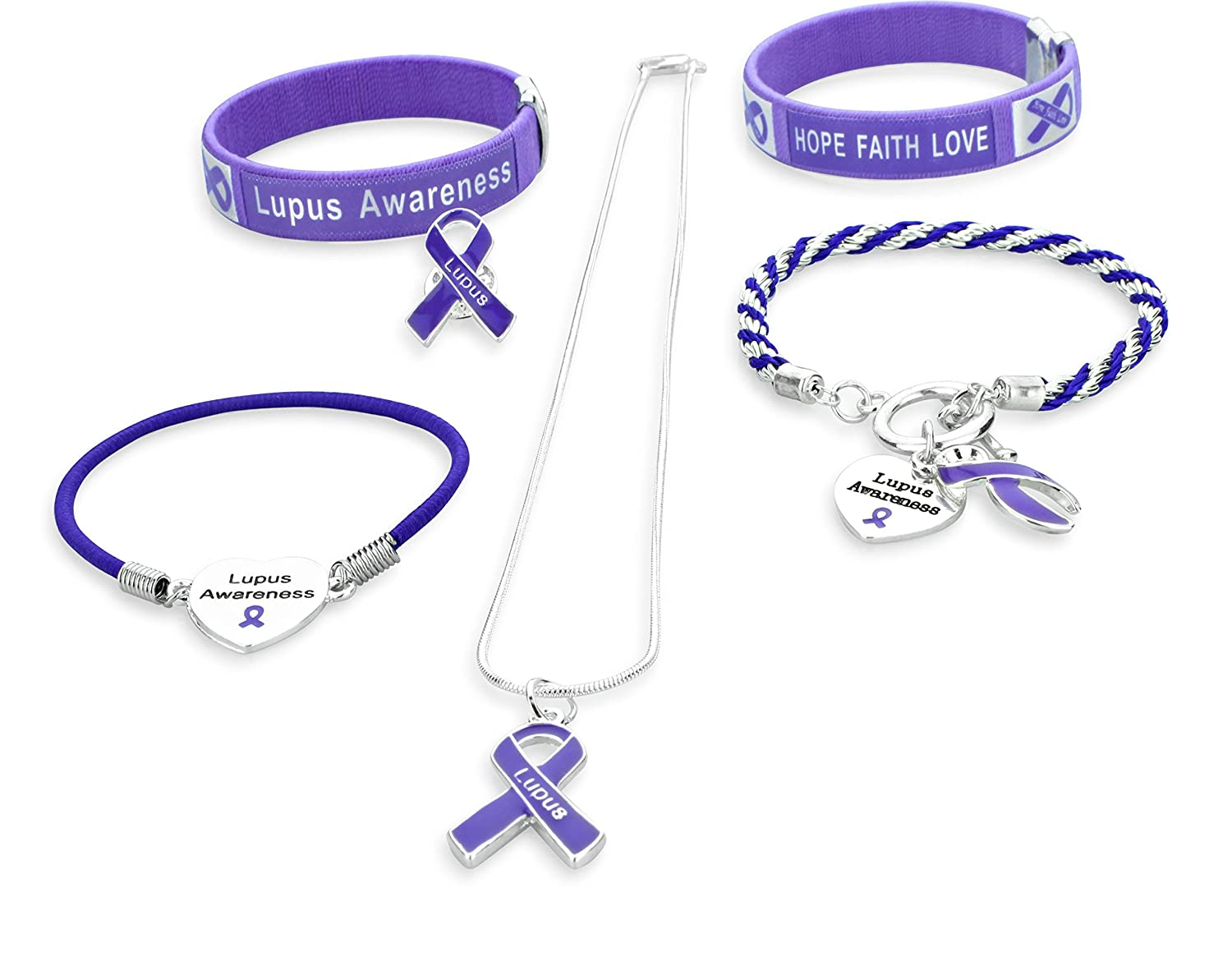Amazon Lupus Awareness Jewelry Gift Set 6 Items Includes 2