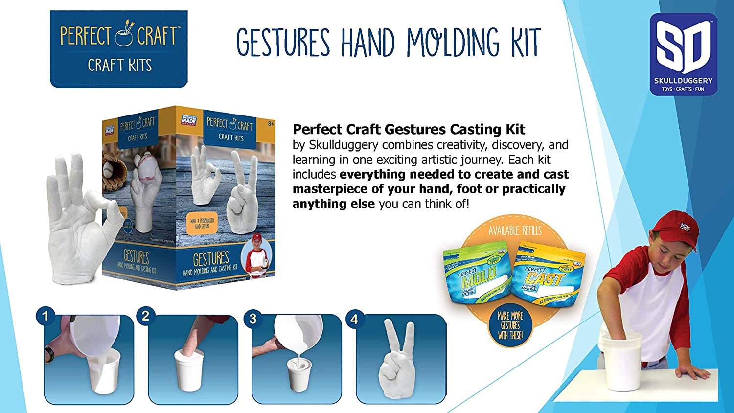 Perfect Craft Gestures Perfect Cast Molding and Casting Kit
