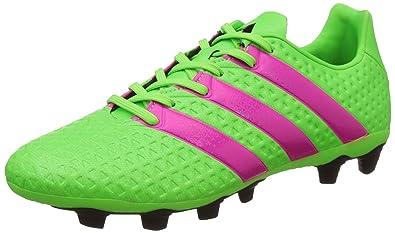 designer fashion 97b90 65870 adidas Ace 16.4 FxG, Herren Fußballschuhe, Grün (Solar Green Shock Pink