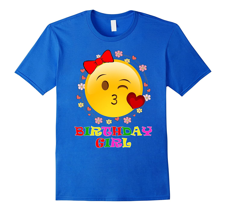 Birthday Girl With Emoji T-Shirt-TH