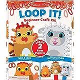 Melissa & Doug Loop It! Beginner Craft Kit - Farm Puppets