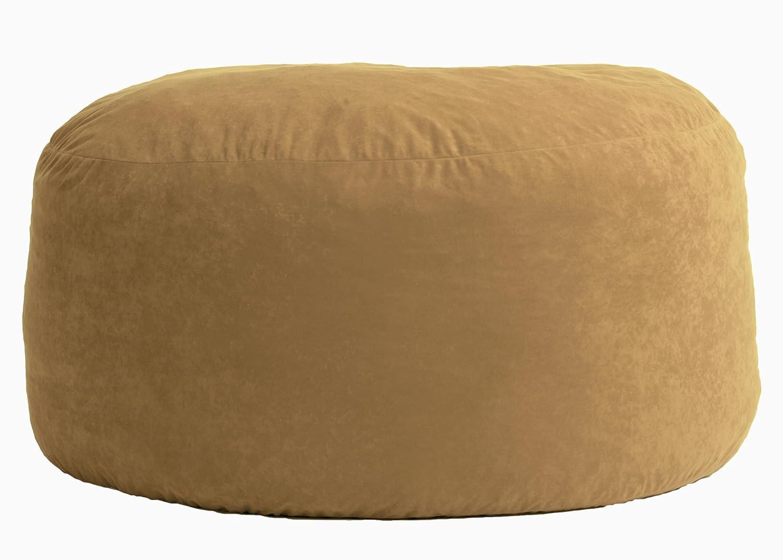 Amazon Big Joe Large Fuf Foam Filled Bean Bag Chair Comfort Suede Sand Dune Kitchen Dining