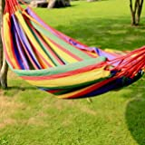 Big-Size Portable Camping Hanging Garden Beach Travel Hammock Outdoor Ultralight Colorful Cotton Polyester Swing Bed Heavy Duty Hammock Outfit