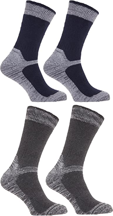 Calcetines gordos/gruesos térmicos para trabajar con puntera reforzada para caballero/hombre (paquete de 4 pares de calcetines): Amazon.es: Ropa y accesorios