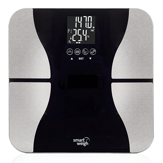150 opinioni per Smart Weigh SBS500- Bilancia pesapersone di precisione, digitale, con superficie
