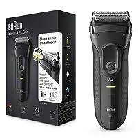 Braun Series 3 ProSkin 3020s - Afeitadora eléctrica para hombre, máquina de afeitar barba inalámbrica y recargable, color negro