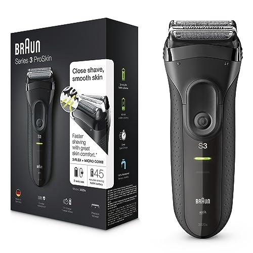 Braun Series 3 ProSkin 3020s Rasoir Électrique Homme Barbe; Noir