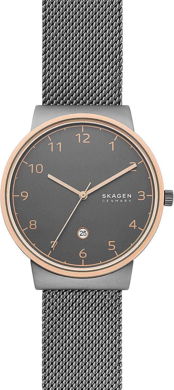 Skagen Men s Ancher Stainless Steel and Mesh Quartz Watch