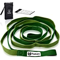 Tumaz Stretch Strap - 10 Loops & Non-Elastic Band - The Perfect Stretching Strap for PT(Physical Therapy), Yoga, Workout…