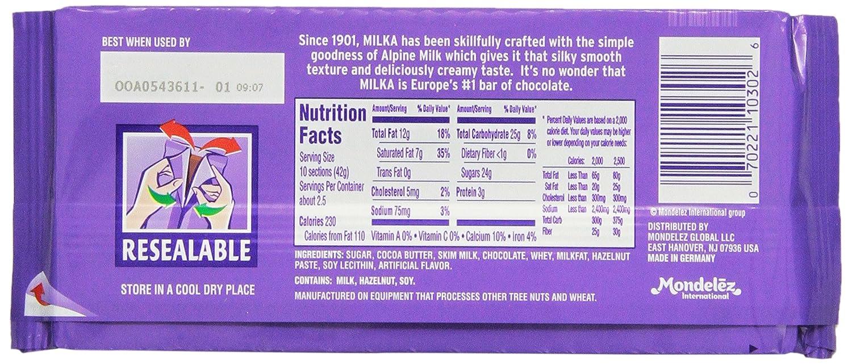 Amazon.com : Milka Alpine Milk Chocolate, 3.52-Ounce (Pack of 10 ...
